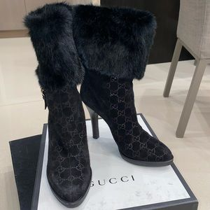 Gucci with real fur boots